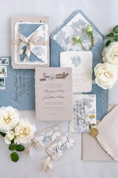 These pretty patterns and french blues create an absolute masterpiece. 💙 LBB member @inquisited produces the loveliest vintage vibes, and we are forever obsessed! It's the details that bring this design full circle. ✨ | Photography & Design: @inquisited #stylemepretty #flatlay #weddingflatlay #weddinginvitations #invitationsuite #flatlayinspiration