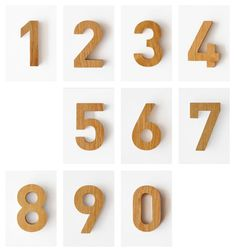 // Numerals in FF DIN BOLD - Designed in 1995 by Dutch typeface designer Albert-Jan Pool   Another Country