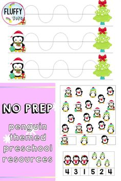 Penguins are a perfect addition to preschool activities in the winter! In this blog, I talk about some of the different preschool activities and resources that are penguin themed and great for practicing preschool motor skills, preschool math, preschool science and preschool writing. I also include suggestions for books about penguins that are great to pair with these activities. Great to use in the preschool classroom or for preschool homeschool activities. Preschool Activity Books, Preschool Writing, Preschool Science, Preschool Printables, Preschool Classroom, Holiday Activities, Preschool Activities, Number Recognition Activities, Tracing Shapes