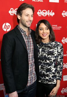 Jeff Baena and Audrey Plaza at the premiere of Life After Beth.