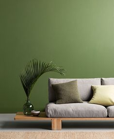 3 colors of the year 2017 by Haymes via Eclectic Trends. It is getting darker, comfortable and slightly morose. See three options to snuggle into a warm interior. Best Interior Paint, Interior Paint Colors, Paint Colours 2017, Espace Design, Color Of The Year 2017, Couch Design, Color Harmony, Interior Exterior, Interior Rendering