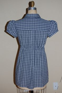 Refashion 18: Empire Waist Camp Shirt from Men's Dress Shirt - Back view by phthooey, via Flickr