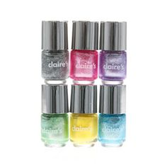 - 6 Pack assorted shimmer nail polish - 6 x - Glass/Plastic Cute Nail Polish, Cute Nails, Makeup Kit For Kids, Advent Calendars For Kids, Frozen Pictures, Claire's Accessories, Hair Jewelry, Fashion Jewelry, Jewellery
