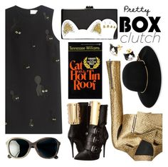 Pretty Box Clutches by the-reluctant-dragon on Polyvore featuring polyvore fashion style Victoria, Victoria Beckham Creatures Of The Wind Giuseppe Zanotti Edie Parker Lanvin Toast clothing BOXCLUTCH
