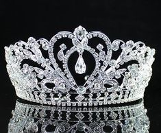 Gorgeous Clear Austrian Rhinestone Crystal Tiara Crown Bridal Prom Pageant H1339 | eBay