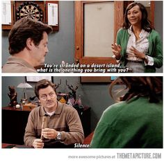 funny Ron Swanson quote Parks Recreation