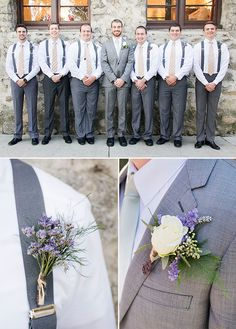 gray and purple groomsman @weddingchicks We are so honored and excited to have Marissa and Nathan's wedding featured on Wedding Chicks!!!