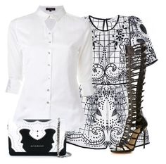 """New Look for White Shirt!"" by jdayminis ❤ liked on Polyvore featuring Loveless, Paul Andrew and Givenchy"