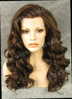 43.35$  Buy now - http://ali6zx.worldwells.pw/go.php?t=1820188050 - Heat Resistant Natural Brown Color Long Wavy 24 Inches Synthetic Lace Front Wigs Free Shipping  43.35$