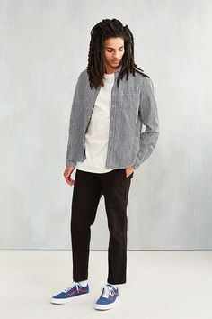 CPO Gingham Linen Dress Shirt - Urban Outfitters