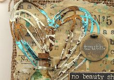 Layers of ink - Mixed Media Burlap Panels Tutorial by Anna-Karin for Simon Says Stamp