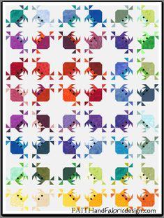 Fish Quilt Pattern, Patchwork Quilt Patterns, Paper Piecing Patterns, Quilting Patterns, Ocean Quilt, Beach Quilt, Rainbow Quilt, Quilting Projects, Quilting Designs