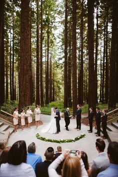 A Ceremony Set In An Enchanted Forest October 7 2018 Pinterest Red Color Palettes Wedding And Vaulting