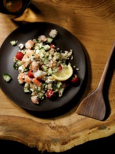 Arabic food recipes couscous salad with avocado prawns recipe big healthy salads new zealand foodtabouli recipeparsley forumfinder Images