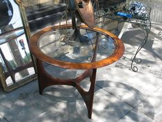 Yet Another Lane Table (they Must Have Sold Like Crazy). Very Sculptural.  Like CrazyMid Century FurnitureChicago
