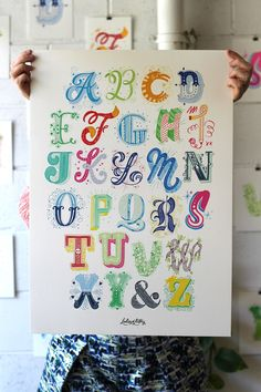 """typeworship: """" Ladies of Letters Late last year Melbourne based studio buddies, Carla Hackett and Amy Constable, collaborated to produce these wonderful, hand-made 'Alphabet City' prints. Lettered by. Alphabet Design, Alphabet City, Hand Lettering Alphabet, Typography Letters, Alphabet Print, Types Of Lettering, Lettering Styles, Lettering Design, Inspiration Typographie"""