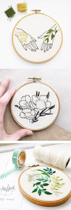 Embroidery hoop art by Kate Appleby