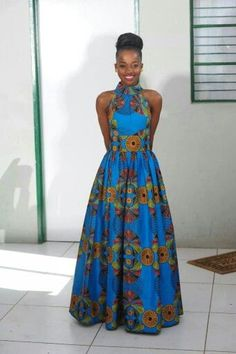 Luc africain Print Maxi Dress / Ankara robe / robe par AdinkraExpo