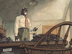 Blacksad may have animals as characters but it's definitely not for children.  Great art style and coloring.