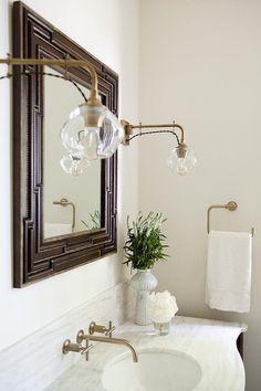 Bathroom Designs Restoration Hardware restoration hardware astoria flat mirror | bathrooms | pinterest