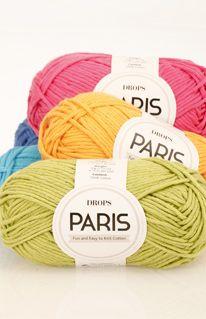 """Barevnice příze DROPS Paris ~ Design  DROPS Paris tvoří množství tenkých vláken 100% bavlny. Tato vlákna """"dýchají"""" a mají výborné absorbční schopnosti, díky nimž bavlněné úplety chladí i hřejí současně. Chńapky, ručníky"""