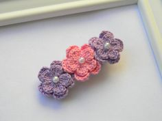 Crocheted Flowers Clip (inspiration)