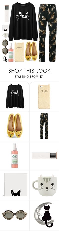 """""""🐱 fashion cat outfit"""" by piedraandjesus on Polyvore featuring moda, Kate Spade, Charlotte Olympia, Dolce&Gabbana, Faber-Castell, Sass & Belle y Gucci"""