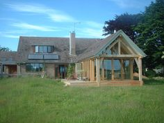 designs for chalet bungalows Bungalow Extensions, Garden Room Extensions, House Extensions, Barn Conversion Exterior, Bungalow Conversion, Bungalows, Style At Home, Oak Framed Extensions, Dormer Bungalow