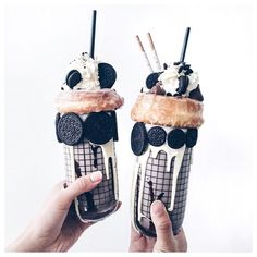 I wonder who I should share these homemade @oreo shakes with?  Who would you pick? : lichipann  #Wonderfilled