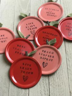 Excited to share this item from my shop: Teacher Magnets, Custom Magnets, Teacher Gifts, Class Jar Lid Crafts, Mason Jar Crafts, Canning Jar Lids, Mason Jar Lids, Best Teacher Gifts, Teacher Appreciation Gifts, Parent Gifts, Teacher Ornaments, Handmade Gifts For Friends
