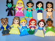 Disney princesses -- perler beads