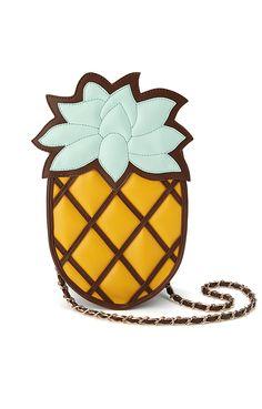 Cute Yellow Single-shoulder Pineapple Chain Bag