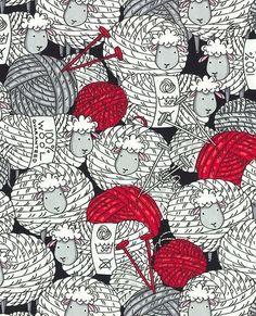 Tela FQ :: sheep & yarn :: de nosgustanlosretros por DaWanda.com