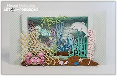 Art Impressions 2020 Ocean Freebies Shadowbox card tutorial.