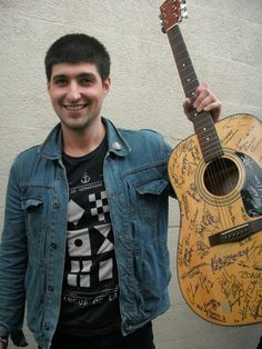 Will Arland of Ballroom Jacks with The EA Kroll Autographed Fender Guitar - 2012