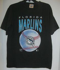 VTG Florida Marlins 1992 MLB Official Fan Tee Shirt Medium Vintage Black   OfficialFan  FloridaMarlins 2c6077038
