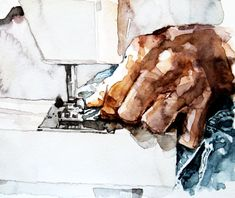 Textiles – Made by Marion Watercolor Illustration, Watercolour, Canadian Artists, Montreal, Original Art, Textiles, Hands, Prints, Painting