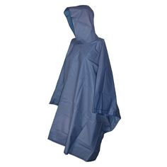 totes ISOTONER Unisex Hooded Pullover Rain Poncho with Side Snaps, Navy
