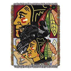 NHL Chicago Blackhawks Northwest Home Ice Advantage Blanket Throw