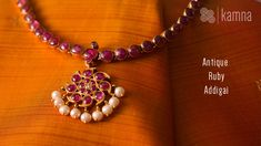 Necklaces – Page 5 – Finest Jewelry Ruby Jewelry, India Jewelry, Temple Jewellery, Saree Jewellery, Jewelry Tree, Beaded Jewelry, Silver Jewelry, Ruby Necklace Designs, Gold Jewelry Simple