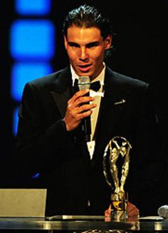 Rafael Nadal wins the Best Male Tennis Player award at the 22nd annual ESPY Awards ceremony held in Los Angeles, 16th July 2014.
