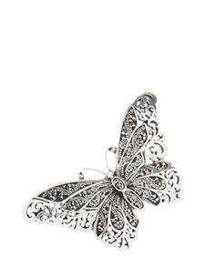 Rue La La - Lois Hill Silver Butterfly Ring - StyleSays