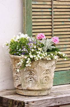 for the love of a house: the summer terrace...from an antique store in Vermont