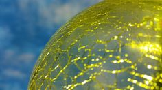 Lustre effect yellow caused by application of RGB LED lighting onto crystal glass balls. Glass Ball, Crystal Ball, Luster, Balls, Sky, Crystals, Lighting, Yellow, Heaven
