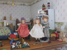 Nursery  | Source: Nancy Lee Moran Added Info: Nancy Lee Moran Fine Art Hello, Evelyn, the dollhouse belongs to my friend Jen Anne of Penwith UK, who also writes stories. On the website page are views of other rooms in this dollhouse, as decorated for the holidays. ~ Nancy Lee NancyLeeMoran.com
