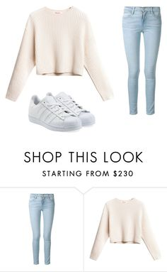 """""""How cute is this fall outfit"""" by elliecarsburg ❤ liked on Polyvore featuring Frame Denim and adidas Originals"""