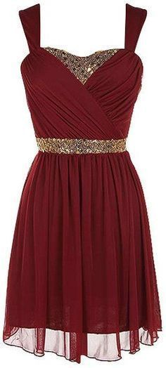 Sexy Prom Dress,Lovely Cute Burgundy Prom Dress,Mini Prom Gown,Party Dress by…