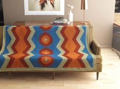 This colorwork crochet afghan is eye-catching. Outrageous Fortune - Media - Crochet Me