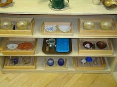 Dry transfer activities for a Montessori Practical Life area.