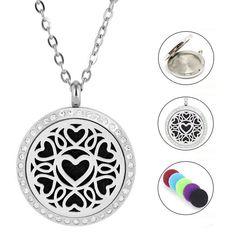 Damen Edelstahl Halskette Herz Piercing, Pendant Necklace, Jewelry, Fashion, Great Gifts, Crystals, Sachets, Women's, Moda